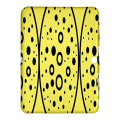 Easter Egg Shapes Large Wave Black Yellow Circle Dalmation Samsung Galaxy Tab 4 (10 1 ) Hardshell Case  by Alisyart