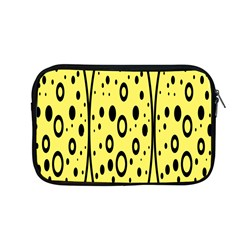 Easter Egg Shapes Large Wave Black Yellow Circle Dalmation Apple Macbook Pro 13  Zipper Case