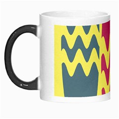 Easter Egg Shapes Large Wave Green Pink Blue Yellow Morph Mugs