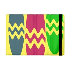 Easter Egg Shapes Large Wave Green Pink Blue Yellow Apple Ipad Mini Flip Case by Alisyart