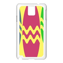 Easter Egg Shapes Large Wave Green Pink Blue Yellow Samsung Galaxy Note 3 N9005 Case (white) by Alisyart