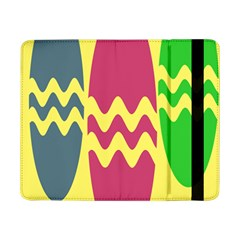 Easter Egg Shapes Large Wave Green Pink Blue Yellow Samsung Galaxy Tab Pro 8 4  Flip Case