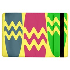 Easter Egg Shapes Large Wave Green Pink Blue Yellow Ipad Air Flip