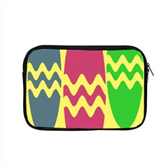 Easter Egg Shapes Large Wave Green Pink Blue Yellow Apple Macbook Pro 15  Zipper Case by Alisyart
