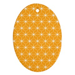 Yellow Stars Light White Orange Ornament (oval) by Alisyart