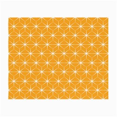 Yellow Stars Light White Orange Small Glasses Cloth (2 Side) by Alisyart