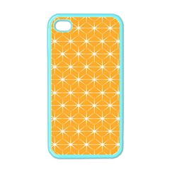 Yellow Stars Light White Orange Apple Iphone 4 Case (color) by Alisyart