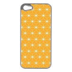 Yellow Stars Light White Orange Apple Iphone 5 Case (silver)