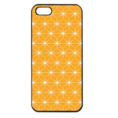 Yellow Stars Light White Orange Apple Iphone 5 Seamless Case (black) by Alisyart