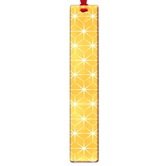 Yellow Stars Light White Orange Large Book Marks