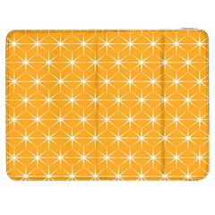 Yellow Stars Light White Orange Samsung Galaxy Tab 7  P1000 Flip Case