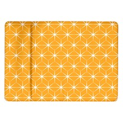 Yellow Stars Light White Orange Samsung Galaxy Tab 10 1  P7500 Flip Case