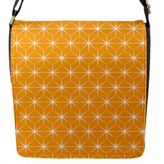 Yellow Stars Light White Orange Flap Messenger Bag (s) by Alisyart