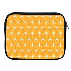 Yellow Stars Light White Orange Apple Ipad 2/3/4 Zipper Cases by Alisyart