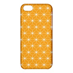 Yellow Stars Light White Orange Apple Iphone 5c Hardshell Case by Alisyart