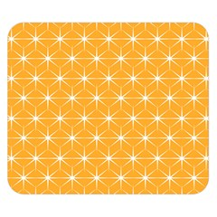 Yellow Stars Light White Orange Double Sided Flano Blanket (small)  by Alisyart