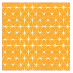 Yellow Stars Light White Orange Large Satin Scarf (square)