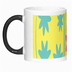 Easter Egg Shapes Large Wave Green Pink Blue Yellow Black Floral Star Morph Mugs