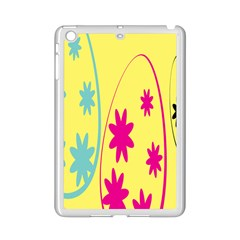 Easter Egg Shapes Large Wave Green Pink Blue Yellow Black Floral Star Ipad Mini 2 Enamel Coated Cases by Alisyart