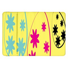 Easter Egg Shapes Large Wave Green Pink Blue Yellow Black Floral Star Samsung Galaxy Tab 8 9  P7300 Flip Case