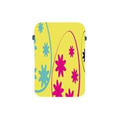 Easter Egg Shapes Large Wave Green Pink Blue Yellow Black Floral Star Apple Ipad Mini Protective Soft Cases by Alisyart
