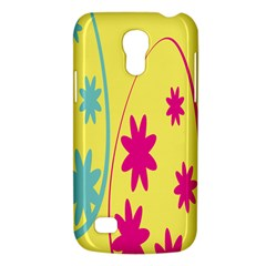 Easter Egg Shapes Large Wave Green Pink Blue Yellow Black Floral Star Galaxy S4 Mini