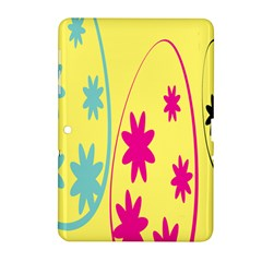 Easter Egg Shapes Large Wave Green Pink Blue Yellow Black Floral Star Samsung Galaxy Tab 2 (10 1 ) P5100 Hardshell Case  by Alisyart