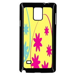 Easter Egg Shapes Large Wave Green Pink Blue Yellow Black Floral Star Samsung Galaxy Note 4 Case (black) by Alisyart