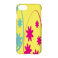 Easter Egg Shapes Large Wave Green Pink Blue Yellow Black Floral Star Apple Iphone 7 Hardshell Case by Alisyart