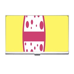 Easter Egg Shapes Large Wave Pink Yellow Circle Dalmation Business Card Holders by Alisyart