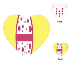Easter Egg Shapes Large Wave Pink Yellow Circle Dalmation Playing Cards (heart)  by Alisyart