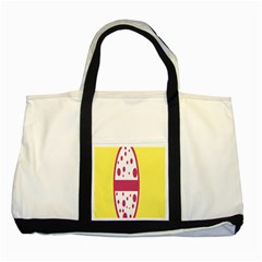 Easter Egg Shapes Large Wave Pink Yellow Circle Dalmation Two Tone Tote Bag by Alisyart