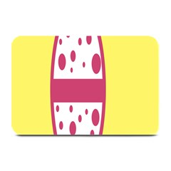 Easter Egg Shapes Large Wave Pink Yellow Circle Dalmation Plate Mats by Alisyart