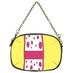 Easter Egg Shapes Large Wave Pink Yellow Circle Dalmation Chain Purses (one Side)  by Alisyart