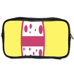Easter Egg Shapes Large Wave Pink Yellow Circle Dalmation Toiletries Bags 2 Side by Alisyart