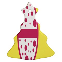 Easter Egg Shapes Large Wave Pink Yellow Circle Dalmation Ornament (christmas Tree)