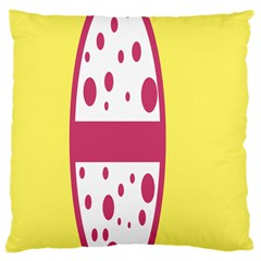 Easter Egg Shapes Large Wave Pink Yellow Circle Dalmation Large Cushion Case (one Side)
