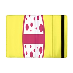 Easter Egg Shapes Large Wave Pink Yellow Circle Dalmation Apple Ipad Mini Flip Case