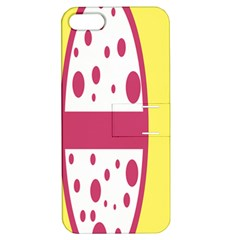 Easter Egg Shapes Large Wave Pink Yellow Circle Dalmation Apple Iphone 5 Hardshell Case With Stand by Alisyart