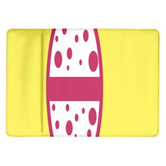 Easter Egg Shapes Large Wave Pink Yellow Circle Dalmation Samsung Galaxy Tab 10 1  P7500 Flip Case