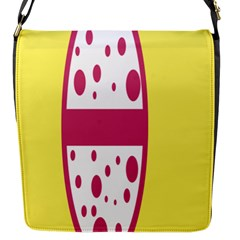 Easter Egg Shapes Large Wave Pink Yellow Circle Dalmation Flap Messenger Bag (s)