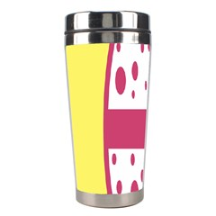 Easter Egg Shapes Large Wave Pink Yellow Circle Dalmation Stainless Steel Travel Tumblers by Alisyart