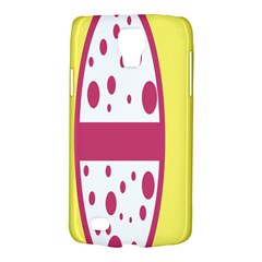 Easter Egg Shapes Large Wave Pink Yellow Circle Dalmation Galaxy S4 Active by Alisyart
