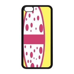 Easter Egg Shapes Large Wave Pink Yellow Circle Dalmation Apple Iphone 5c Seamless Case (black)