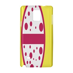 Easter Egg Shapes Large Wave Pink Yellow Circle Dalmation Samsung Galaxy Note 4 Hardshell Case by Alisyart