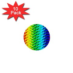 Comic Strip Dots Circle Rainbow 1  Mini Buttons (10 Pack)  by Alisyart