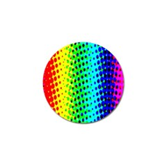 Comic Strip Dots Circle Rainbow Golf Ball Marker (10 Pack) by Alisyart