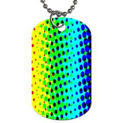 Comic Strip Dots Circle Rainbow Dog Tag (two Sides) by Alisyart