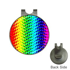 Comic Strip Dots Circle Rainbow Hat Clips With Golf Markers