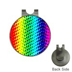 Comic Strip Dots Circle Rainbow Hat Clips with Golf Markers Front